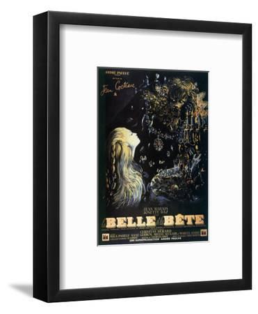 Poster for the Jean Cocteau Film 'La Belle Et La Bete', 1946--Framed Giclee Print