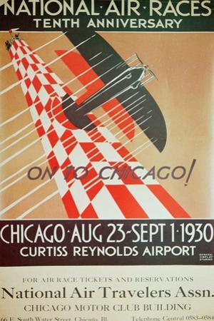 Poster for the National Air Races at Chicago Airport, 1930