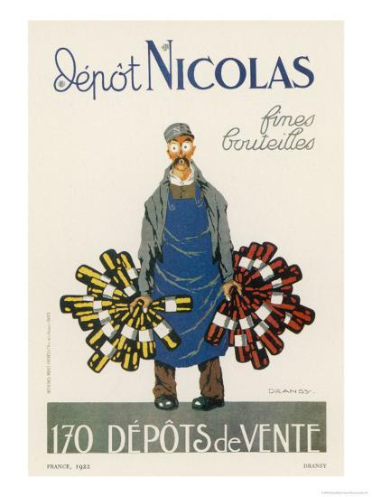 Poster for the Nicolas Chain of Wine Shops France-Dransy-Giclee Print