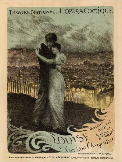 Poster for the Oper Louise by Gustave Charpentier, 1900-Georges Antoine Rochegrosse-Giclee Print