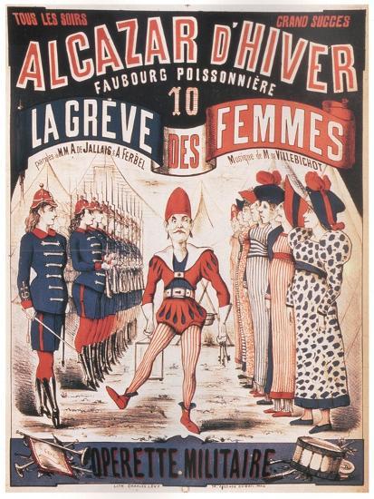 Poster for the Operetta La Grêve Des Femmes by A. De Villebichot, 1879-1880-Charles Lévy-Giclee Print