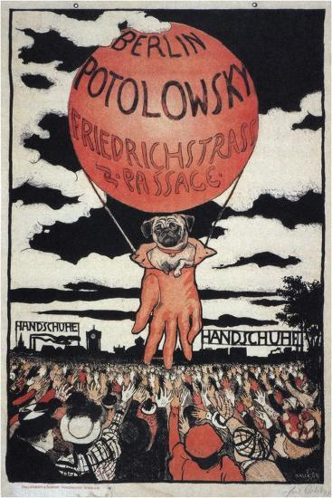 Poster for the Potolowsky Glove Manufacturer, 1897-Emil Orlik-Giclee Print