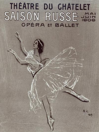 Poster for the 'saison Russe' at the Theatre Du Chatelet, 1909-Valentin Aleksandrovich Serov-Giclee Print