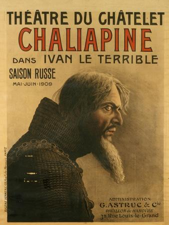 Poster for the Saison Russe at the Théâtre Du Châtelet, 1909-Eugene Verneau-Giclee Print