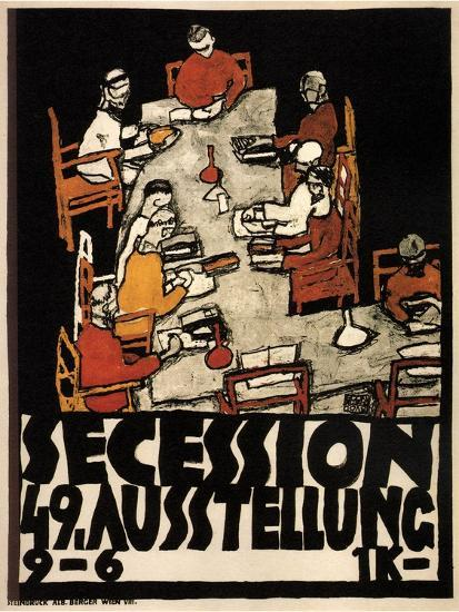 Poster for the Vienna Secession 49th Exhibition, 1918-Egon Schiele-Giclee Print