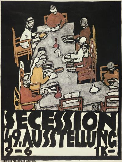 Poster for the Vienna Secession, 49th Exhibition, Die Freunde, 1918-Egon Schiele-Giclee Print