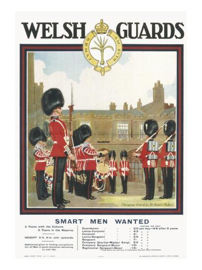 Poster for Welsh Guards--Giclee Print