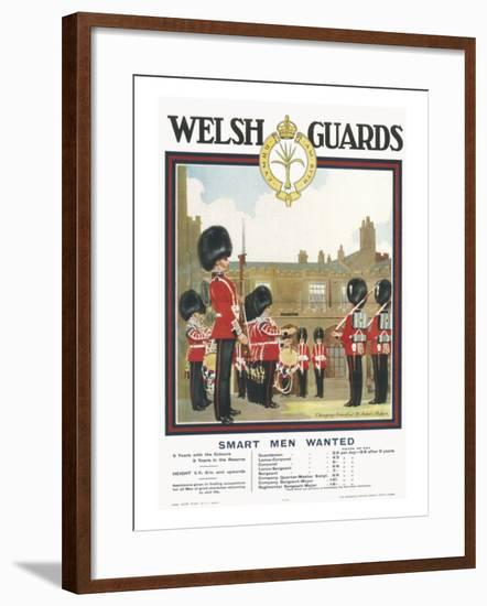 Poster for Welsh Guards--Framed Giclee Print