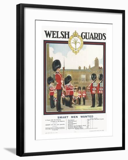 Poster for Welsh Guards--Framed Giclee Print