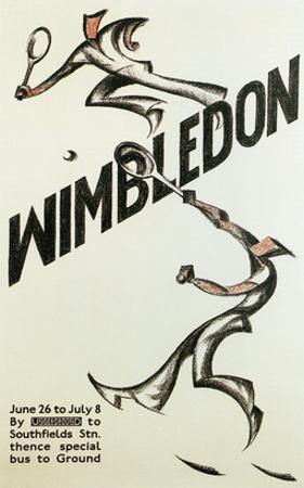 Poster for Wimbledon Tennis