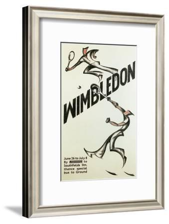 Poster for Wimbledon Tennis--Framed Art Print