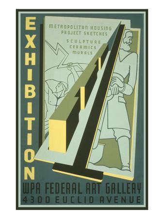 Poster for Wpa Art Exhibition--Art Print