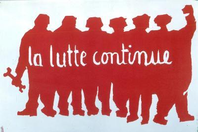 Poster from the Student Revolt in Paris, 1968--Giclee Print