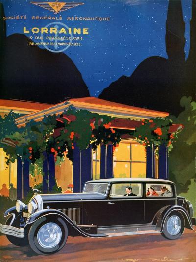 Poster, Lorraine, Societe Generale Aeronautique, 1928-Roger Soubier-Giclee Print