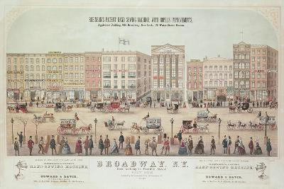 Poster of a View of Broadway--Giclee Print