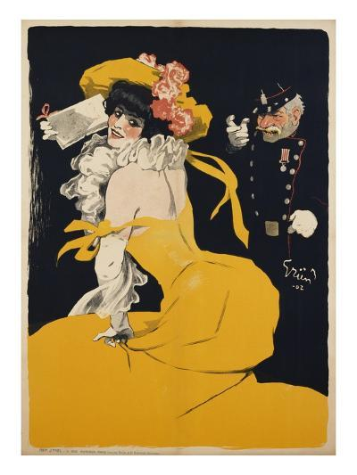 Poster of a Woman in a Yellow Dress by Jules Alexandre Grun--Giclee Print