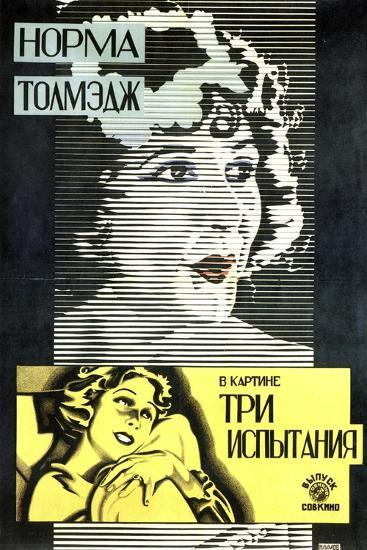 Poster of American Actress and Film Star Norma Talmadge, 1926-Alexander Naumov-Giclee Print