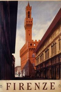 Poster of Firenze, Printed by Luigi Salomone, 1938