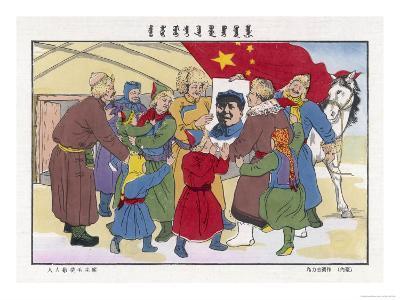 Poster of Mao, The Peasants' Hero--Giclee Print