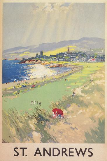 Poster of St. Andrews Golf Course--Premium Giclee Print