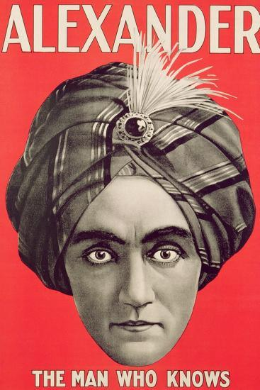 Poster of the Magician Alexander, C.1926--Giclee Print