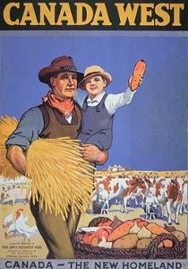 Poster Promoting Immigration to Canada, 1925