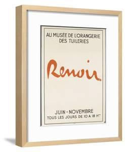 Poster: Renoir Musée De L'Orangerie in the Tuileries