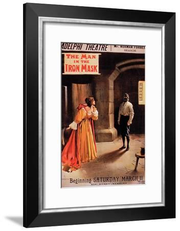 """Poster """"The Man in the Iron Mask"""" at the Adelphi Theatre, London-Albert Morrow-Framed Giclee Print"""