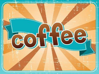 Poster With A Coffee Cup In Retro Style-incomible-Art Print