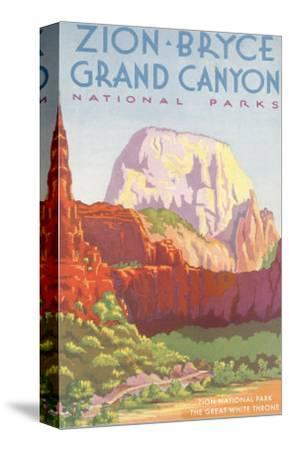 Poster, Zion, Bryce, Grand Canyon, National Parks