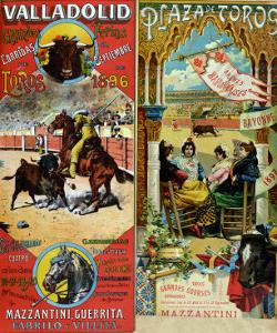 Posters Advertising Bull-Fights in Valladolid, 1896 and in Bayonne, 1897