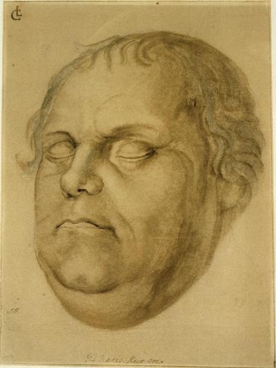 Posthumous Portrait, Martin Luther, 1546-Lucas Fortenagl-Giclee Print