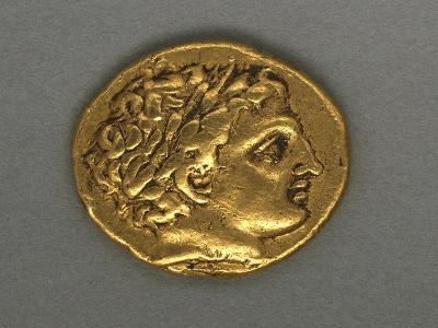 Posthumous Stater of Philip II, Minted by Mint of Pella, 315-294 BC, Recto, Greek Coins--Giclee Print