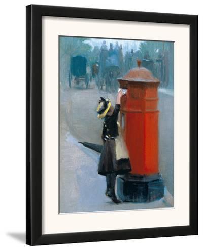 Posting A Letter-Albert Ludovici-Framed Art Print