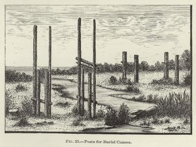 Posts for Burial Canoes--Giclee Print