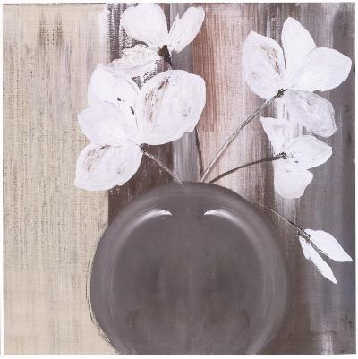 Pot De 5 Fleurs Blanches-Marielle Paccard-Art Print