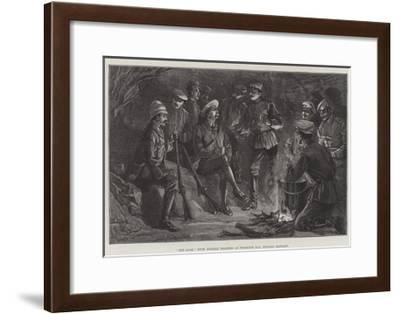 Pot Luck with Russian Soldiers at Possiette Bay, Russian Tartary-William Heysham Overend-Framed Giclee Print
