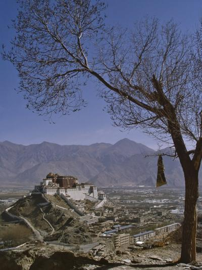 Potala Palace from Yuwang Shan Mountain, Lhasa, Tibet, China, Asia-Nigel Blythe-Photographic Print