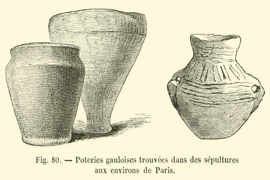 Poteries Gauloises Trouvees Dans Des Sepultures Aux Environs De Paris--Giclee Print