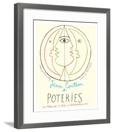 Poteries - Pottery Exhibition at the Tribunal de Pêche de Villefranche sur Mer-Jean Cocteau-Framed Giclee Print