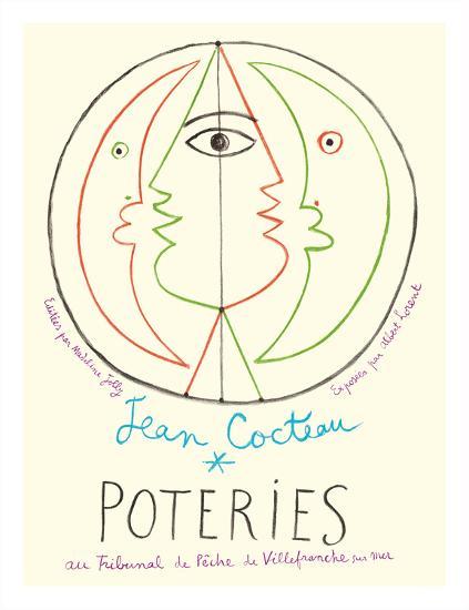 Poteries - Pottery Exhibition at the Tribunal de Pêche de Villefranche sur Mer-Jean Cocteau-Giclee Print