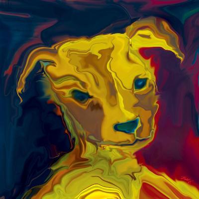 Potrait-of-a-Puppy-Rabi Khan-Art Print