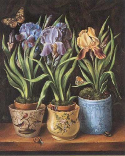 Pots with Narcissus-Milieu Du Ciel-Art Print