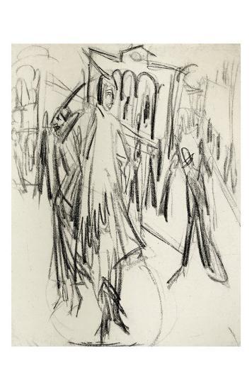Potsdamer Platz II-Ernst Ludwig Kirchner-Art Print