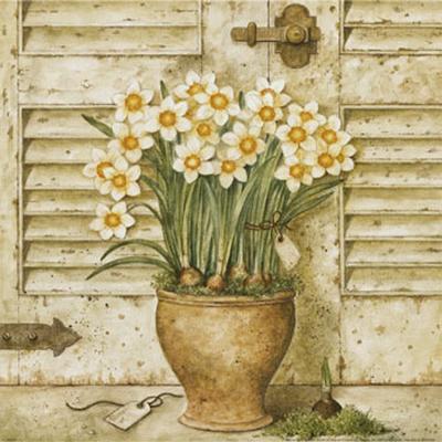 Potted Flowers I-Eric Barjot-Art Print