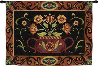 Potted Folk Floral-Jennifer Brinley-Wall Tapestry