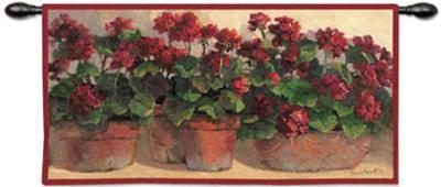 Potted Geraniums-Anita Phillips-Wall Tapestry