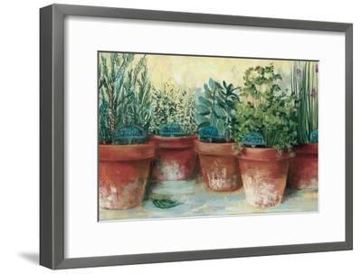 Potted Herbs II-Carol Rowan-Framed Art Print