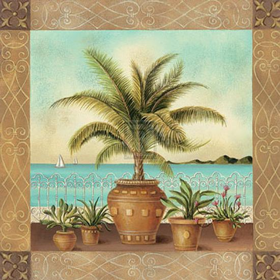 Potted Palm II-Don Tyler-Art Print