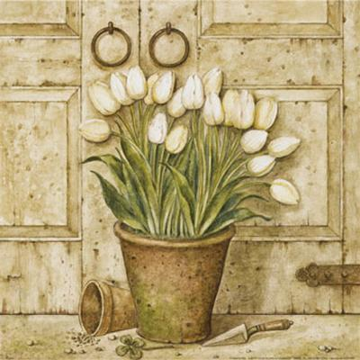 Potted Tulips I-Eric Barjot-Art Print